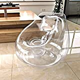 Transparent Inflatable Couch Chair Sofa,Camping Furniture,Blow Up Couch Bean Bag Lazy SofaChair,for Home/Office/Outdoor/Travel/Camping/Picnic/Swimming Pool