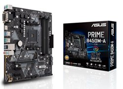 Asus Prime B450M-A/CSM AMD AM4 (3rd/2nd/1st Gen Ryzen Micro-ATX Commercial Motherboard (1Gb LAN, ECC Memory, D-Sub/HDMI/DVI-D, TPM Header, COM Port, ASUS Control Center Express)