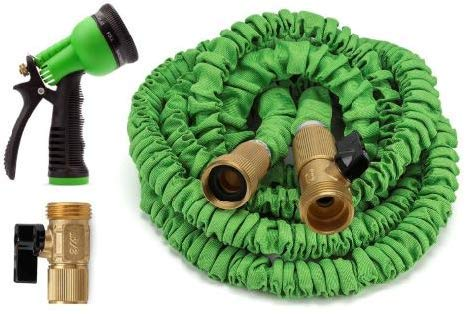 Ovareo Garden Hose. 25 Feet Expandable Garden Hose, Strongest Expanding Garden Hose on The Market with Triple Layer Latex Core & Latest Improved Extra Strength. (Green)