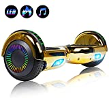 Felimoda 6.5' inch Hoverboard Electric Smart Self Balancing Scooter w/Built-in Wireless Speaker LED Wheels and Side Lights- UL2272 Certified