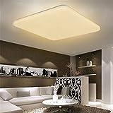 HENGMEI 48W Lámpara de techo LED Ultradelgado Plafón de techo Blanco cálido LED Integrado Iluminación Interior para Pasillo Salón Cocina Dormitorio