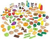 Kidkraft 63330 Set di Cibo Giocattolo Deluxe Tasty Treats per Bambini, Giochi di Imitazione con 115 Accessori Inclusi