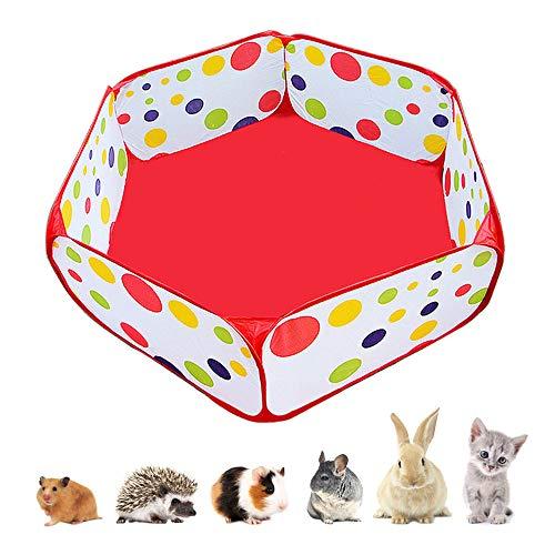 Amakunft: Tragbarer Laufstall für Kleintiere, für drinnen und draußen, mit Metalldraht, Käfigzelt für Meerschweinchen, Kaninchen, Hamster, Chinchillas und Igel