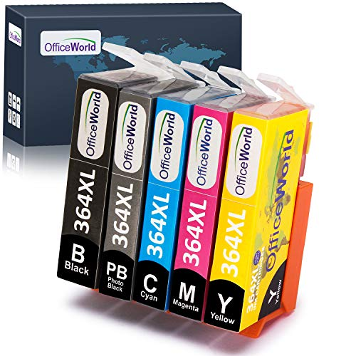 OfficeWorld Ersatz für HP 364 364XL Druckerpatronen (inkl. Foto Schwarz) Hohe Kapazität Kompatibel mit HP Photosmart 7510 7520 C5380 C6380 C309A C310A C410 C410b