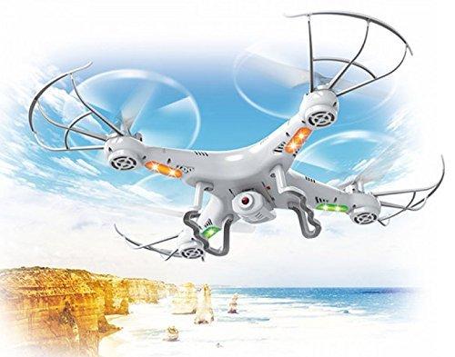 Top Race Quadricottero con Telecamera, Ultra Stabile con Drone con 4 Azioni di Movimento Macchina Fotografica e Telecamera, con Opzione Ritorno TR-Q511