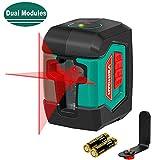 Niveau Laser, HYCHIKA 15M Autonivelant avec Deux Module Laser (Alternant...