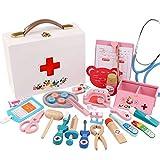 Wghz Kids Doctors Kit Kids Doctors Kit Toy Doctor Toy Enfermera Inyección Caja de Madera Caja de Regalo Niño Niña para niños Niños pequeños Niños (Color: Blanco, Tamaño: Talla única)