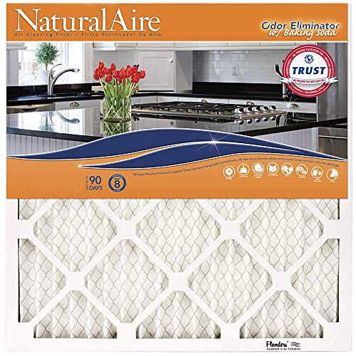 NaturalAire Odor Eliminator Air Filter with Baking Soda, MERV 8, 16 x 20 x 1-Inch, 4-Pack