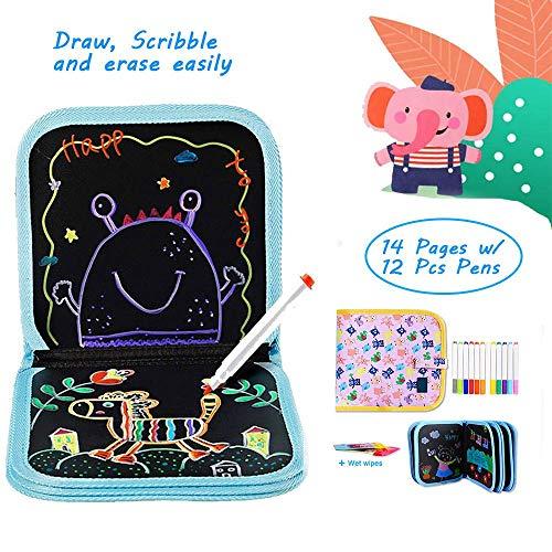 Blocco da Disegno cancellabile per Bambini, Riutilizzabile Erasable Drawing Pad Tavolo da Disegno...