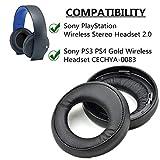 Coussinets de Remplacement Coussinets d'oreille Coussin pour Sony PS3 PS4 Gold Casque sans Fil Playstation 3 Playstation 4 Casque stéréo 7.1 Surround virtuel