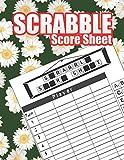 Scrabble Score Sheet: Scrabble Games Score Tracker