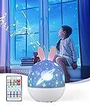 Bluefire Bébé Veilleuse Projecteur, Veilleuse LED Enfant Lampe Musicale et Lumineuse 360°Rotation,8 Chansons,6 Films de Projection, pour Les Enfants, Bébé, Chambre,Cadeaux,Anniversaire