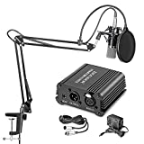 Neewer NW-700 Professional Condenser Microphone & NW-35 Suspension Boom Scissor Arm Stand with XLR...
