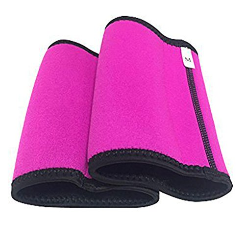 Arm Trimmers for Weight Loss - Arm Slimmers for Women & Men Pair Sauna Sleeves Wraps Sweat Arm Bands Neoprene Compression Workout Fat Burning Sudatory Black (M) 9