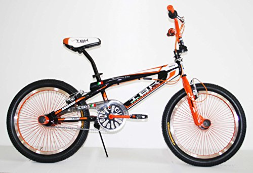 BICI BICICLETTA BMX FREESTYLE IBK 20' MONOVELOCITA' STERZO 360° (Arancione)