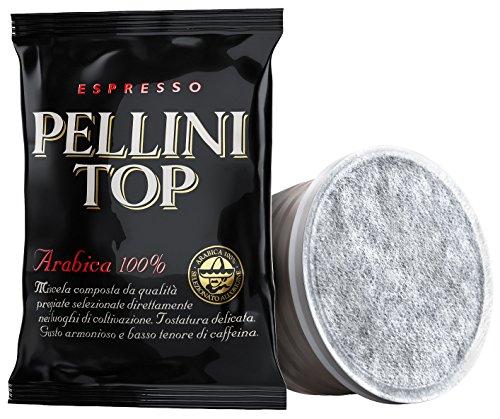 Pellini Caffè, Espresso Pellini Top Arabica 100%, Capsule Compatibili con Sistema Lavazza Espresso Point - Confezione da 100 Capsule