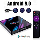 DNYKER H96 Max Smart Android 9.0 TV Box,4GB / 64GB 2.4G / 5G WiFi BT4.0 HD Android Media Box,Media Player Display,Screen Remote Control