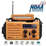 Radio Solaire, Radio Portable à Manivelle, Radio Météo d'urgence avec...