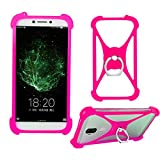 Lankashi Rose Phone Silicone Cover Case for Unimax UMX U683CL u452tl U504TL U673c U675 U505TL U505 / ZTE Majesty Pro 4G LTE Tracfone Prepaid/Tracfone TCL LX / A1 4G LTE Prepaid/ZTE Majesty Pro