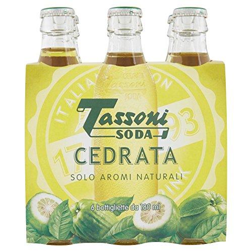 Tassoni - Cedrata Soda, 180 ml (Pacco da 6)