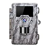 OUDMON Trail Game Camera 16MP 1080p 30fps FHD Waterproof IP67 Wildlife Scouting Hunting Cam with 940nm 48Pcs No Glow IR LEDs Motion Activated Night Vision 2.4' LCD