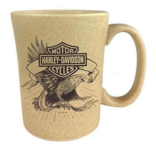 斑点ハーレーダビッドソンB & Sイーグルセラミックコーヒーカップ、自然15オンス3smn4907