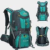 MYMM - Mochila deportiva, 50 l, para viajes, senderismo, exteriores, deportes, caminatas, acampadas, montañismo. Mochila impermeable., aguamarina