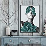 YuanMinglu Arte Abstracto Moderno Lienzo Pintura Personalidad Mujer Pared Arte Impresiones Sala de Estar Cuadro de Pared decoración de la Pared del hogar Pintura sin Marco 50x70cm
