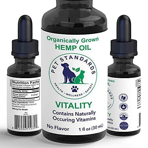Pet Standards [new] Vitality Organic Hemp Oil for...
