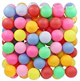 TADICK Assorted Color 50 Pack Beer Ping Pong Balls Washable Plastic Table Tennis Ball