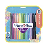 Paper Mate 1928605 Flair Felt Tip Pens, Medium Point (0.7mm), Tropical & Classic Colors, 12 Count (Office Product)