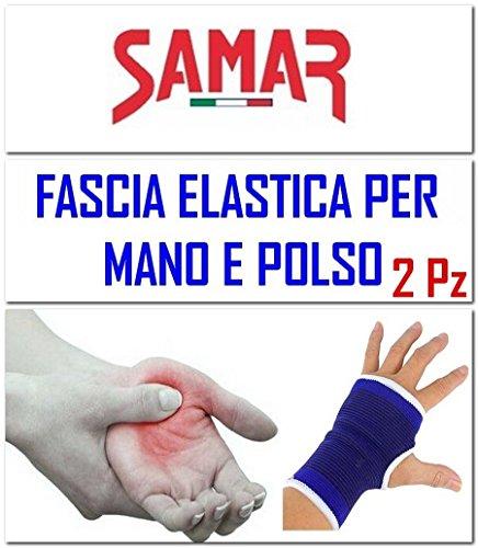 Fascia Elastica Mano Polso - 2 PEZZI - Polsiera - Tutore Tunnel Carpale Supporto per Sport,...