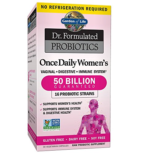 Garden of Life Dr. Formulated Probiotics for Women, Once Daily Women's Probiotics 50 Billion CFU Guaranteed and Prebiotic Fiber, Shelf Stable One a Day Probiotic No Gluten Dairy or Soy, 30 Capsules 1