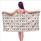 Aurauiora Bath Towel 3D Digital Printing Set Ice Cream,Horizontal Order Milky,W28 xL55 for Kids Mickey Mouse