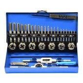 Romacci 32 unidades/conjunto de aço liga durável torneira métrica e plugue brocas M3-M12 ferramentas manuais para metalurgia