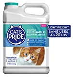 Cat's Pride Lightweight Flushable Scented Clumping Clay Cat Litter, 10-lb jug (C01947)