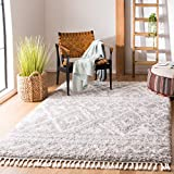 Safavieh Flokati Collection FLK311F 2.3-inch Thick Area Rug, 8' x 10', Grey / Ivory