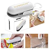 Mini Bag Sealer, Handheld Heat Vacuum Sealers, 2 in 1 Heat Sealer and Cutter Handheld Portable Bag Resealer Sealer for Plastic Bags Food Storage Snack Fresh Bag Sealer (Battery Not Included)