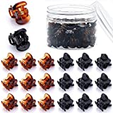 48 Pcs Mini Hair Clips for Girls and Women(Black and Brown)