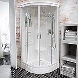 Wellnessdusche Schulte Fertigdusche Komplettdusche Duschtempel 92x92 cm Runddusche Glas weiß Helgoland, 1 Stück