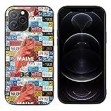 アメリカ ナンバープレートiPhone 12 用ケース iPhone 12 Pro 用ケース 防水 防塵 薄型 滑り防……