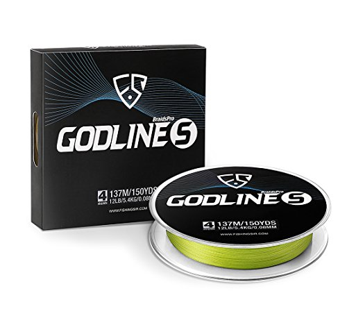 FISHINGSIR Godline S Improved Braided Fishing Line Abrasion Resistant SuperLine - 30% Thinner...