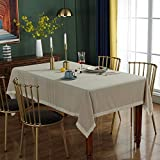 WSJIABIN Home Decoration Tablecloth Simple and Light Luxury Beige Washed Cotton Tassel BanquetTablecloth TV Cabinet Tablecloth Multifunctional Cover Towel140 * 180CM