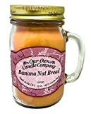 Our Own Candle Company Banana Nut Bread Scented 13 Ounce Mason Jar Candle