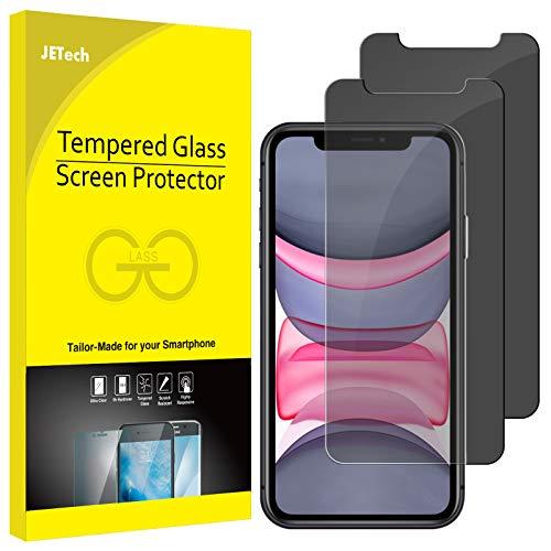 JETech Privacy Pellicola Protettiva Compatible iPhone 11 / XR 6,1', Anti Spy in Vetro Temperato, Pacco da 2