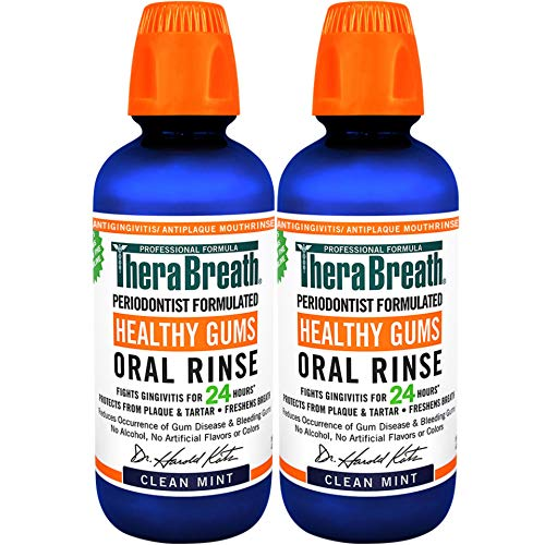 TheraBreath 24 Hour Healthy Gums Periodontist Formulated Oral Rinse, 16 Ounce (Pack of 2)