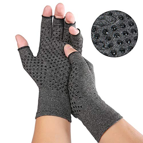 Arthritis Compression Gloves for Men Women for Arthritis Hands, Fingerless Arthritis Gloves for Rheumatoid and Osteoarthritis, Compression Gloves for Arthritis Pain Relief (Medium)