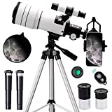 ToyerBee Telescope for Kids &Adults &Beginners,70mm Aperture 300mm Astronomical Refractor...