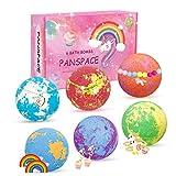 Bombas de baño Panspace, 6 bombas de baño para niños con sorpresa en el interior, bombas de baño Fizzies ...
