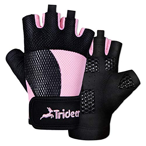 Trideer Breathable Workout Gloves Women, Weight Lifting Gloves, Gym Gloves, Exercise Gloves for Climbing, Boating, Dumbbells, Cross Training
